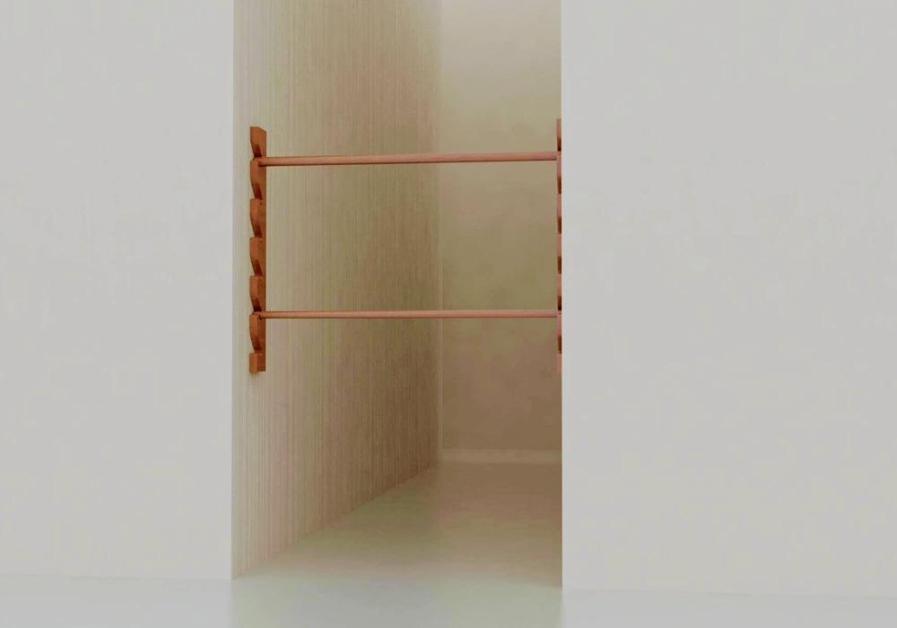 barra de equilibrio pasillo niños